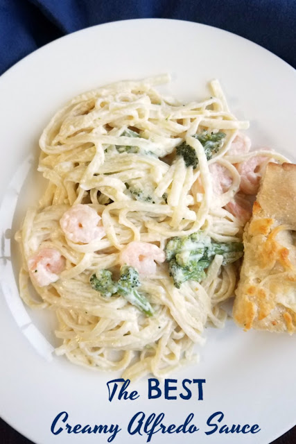 Rich, creamy, delicious alfredo sauce is on of our very favorite dinners. It is easy to make and and the whole family will love it, so make it for dinner as soon as possible!