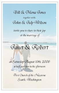 Beach Wedding Invite Wording PaperInvite