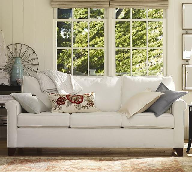 Lisa Loves John The Low Down On White Sofa