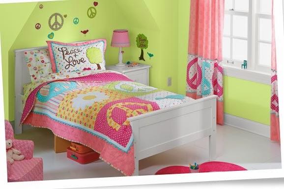 Dormitorios para ni a en rosa y verde lim n ideas para - Habitaciones infantiles verdes ...