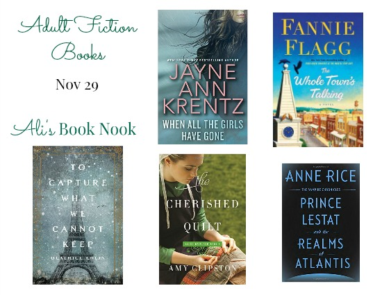 New Adult Fiction books Nov 29 historical fiction christian fiction vampire