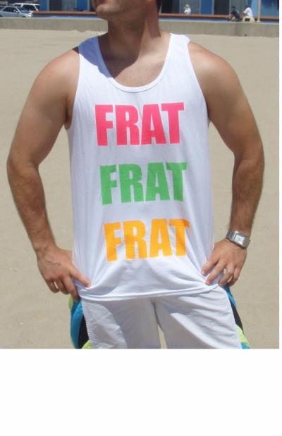 Custom tank tops, available in neon and standard colors. Create your own design onliine. Fast 5 day production.