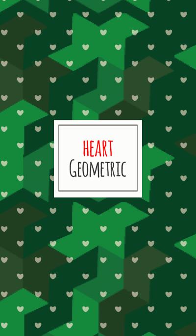 Geometric / green (Heart)