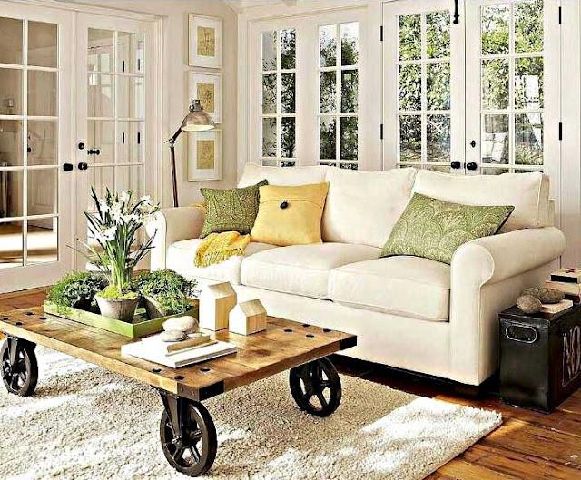 Desain Ruang Keluarga Minimalis Modern Bernuansa Putih