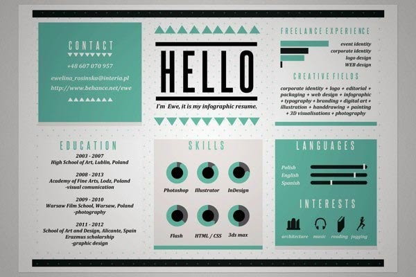 30 Infographic Resumes that Stand Out - Jayce-o-Yesta - resume design inspiration