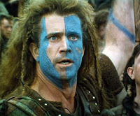 mel gibson braveheart blue face paint makeup