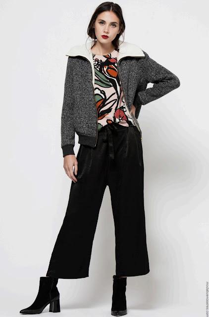 Moda otoño invierno 2017 pantalones y camperas de moda mujer 2017.