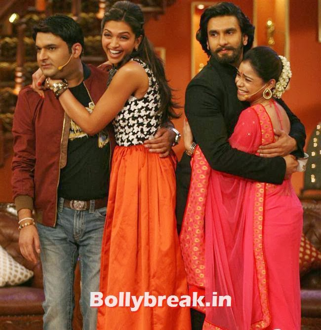 Kapil Sharma, Deepika Padukone, Ranveer Singh and Sumona, Comedy Nights with Kapil & Ram Leela Team