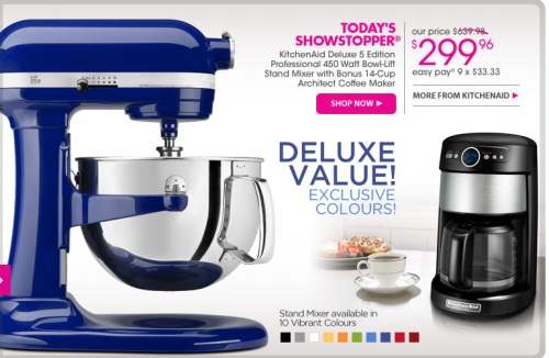 Canadian Daily Deals The Shopping Channel Kitchenaid