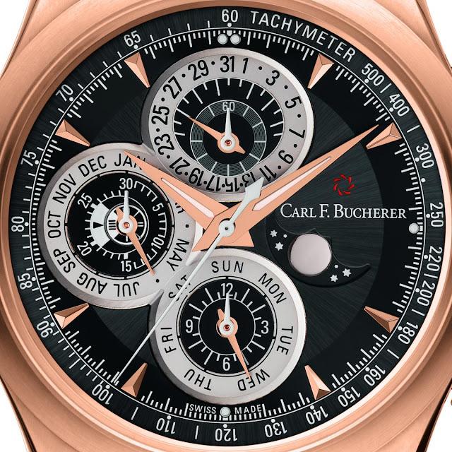 Carl F. Bucherer Manero Chronoperpetual Ref. 00.10906.03.33.01 dial