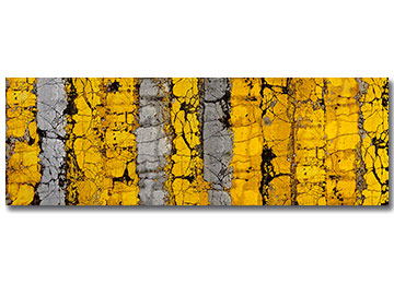 yellow and grey, abstract art, wall art, contemporary art, canvas print, panoramic, canvas art, Sam Freek, industrial, urban decay,