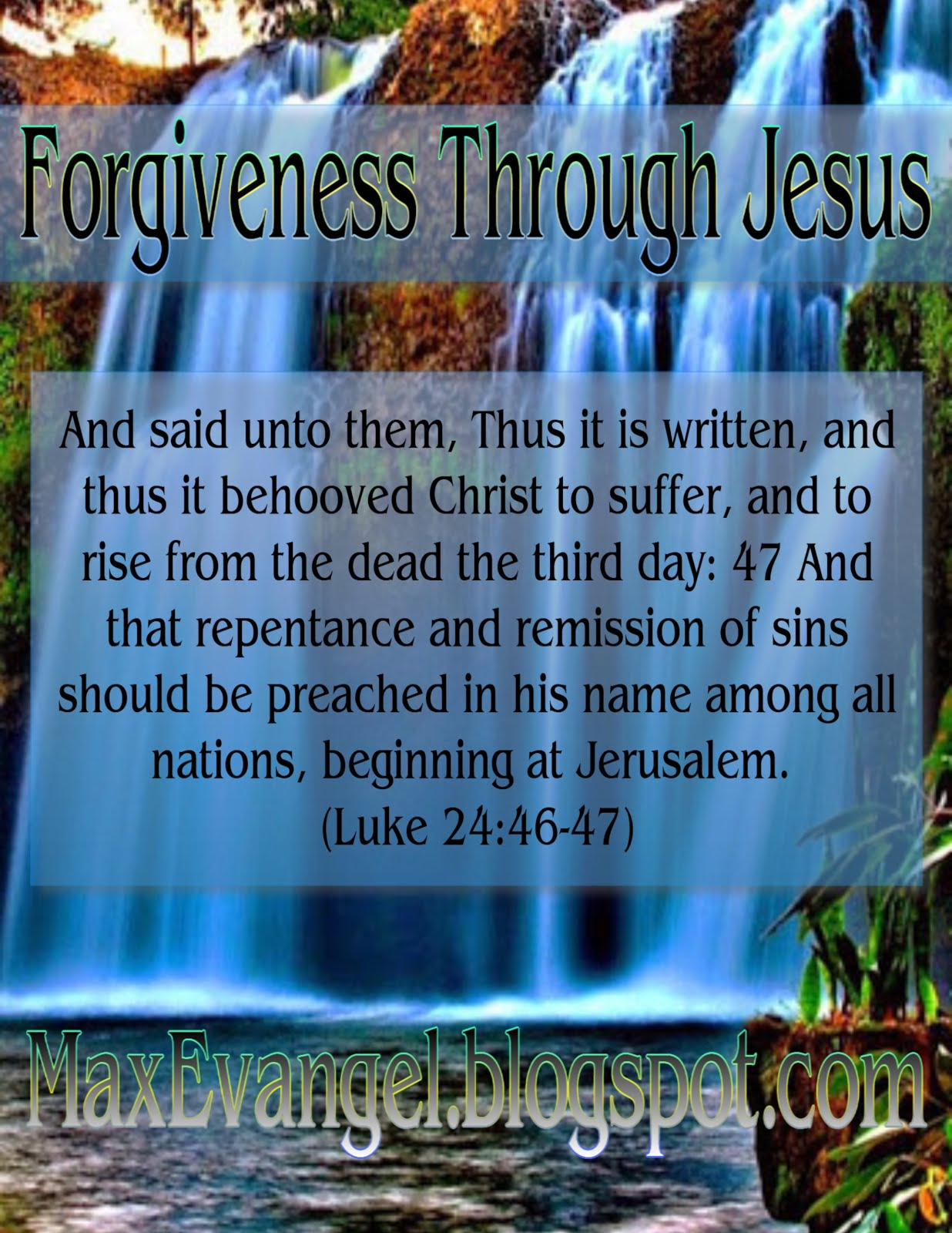 Forgiveness Through Faith in Jesus