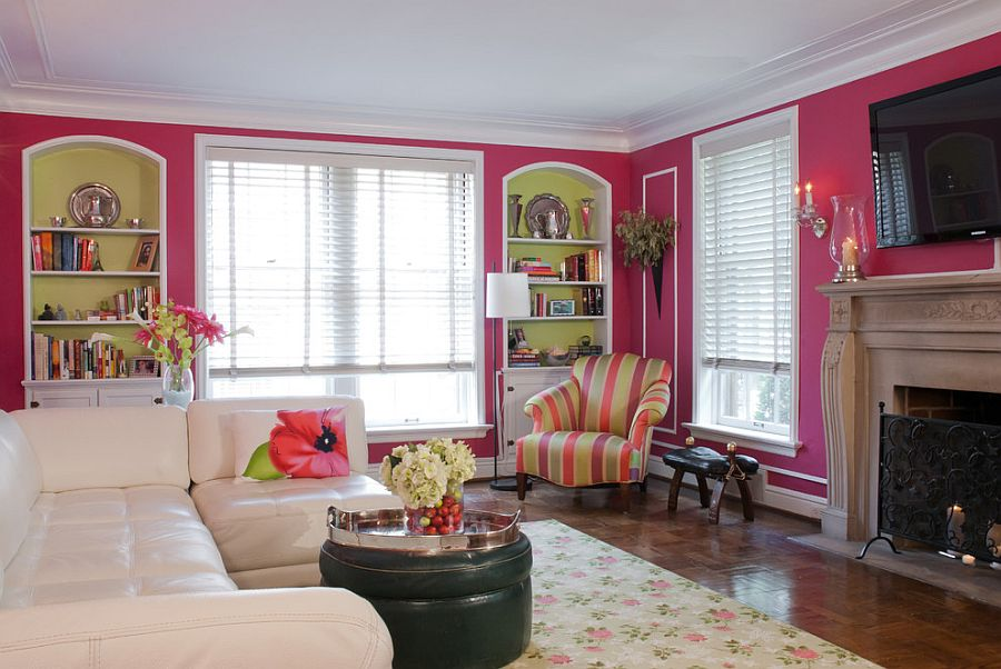 18 Desain Ruang Tamu Nuansa Pink Minimalis