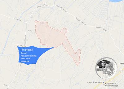 PETA Desa Pinangsari, Kecamatan Ciasem