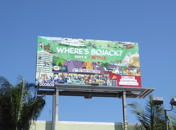 BoJack Horseman season 4 billboard