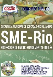 Apostila SME-RIO 2017 para Professor de Inglês  Ensino Fundamental - SME-RJ.