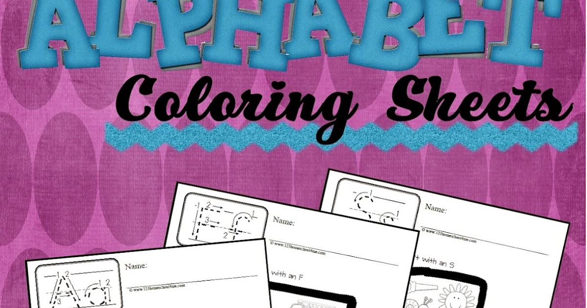 Colouring Pages For Toddlers Alphabet : Free phonics alphabet coloring sheets