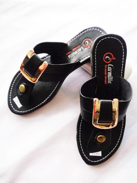 Grosir sandal carmilla Gesper Hitam Murah