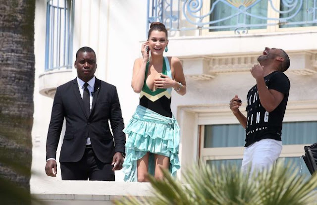 Bella Hadid – Photoshoot at Martinez Hotel in Cannes
