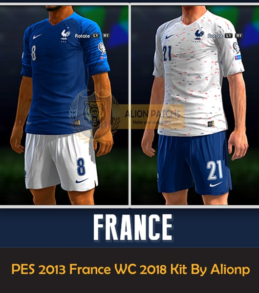 PES 2013 France kits Home Away World Cup 2018