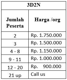 Paket Wisata Belitung Murah NON MEAL 3d2n