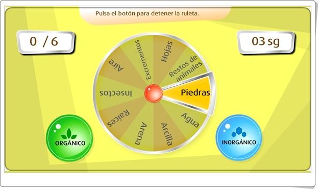 """""""Los componentes del suelo"""" (Juego de Ciencias Sociales de Primaria)"""