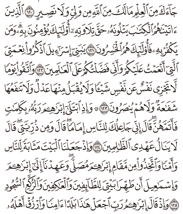Tafsir Surat Al-Baqarah Ayat 121, 122, 123, 124, 125