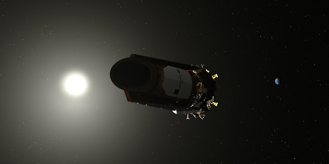 kepler spacecraft pauses science observations to download science data