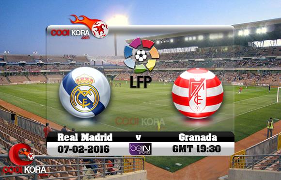 مشاهدة مباراة غرناطة وريال مدريد اليوم 7-2-2016 في الدوري الأسباني