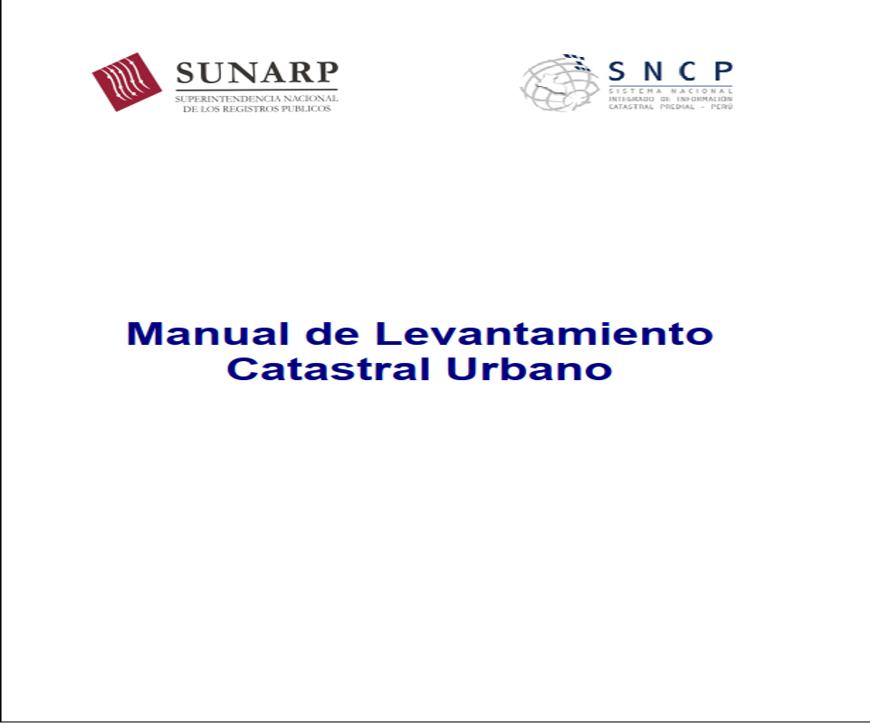 Manual de Levantamiento de Catastro Urbano (Perú) ~ Info