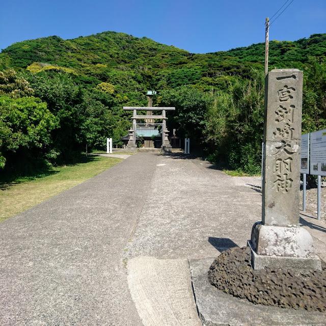 房総フラワーライン 洲崎神社