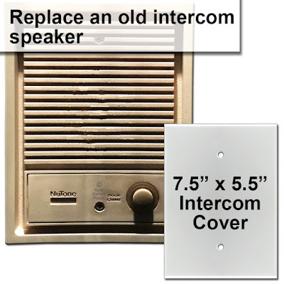 vintage door bell intercom speaker cover up