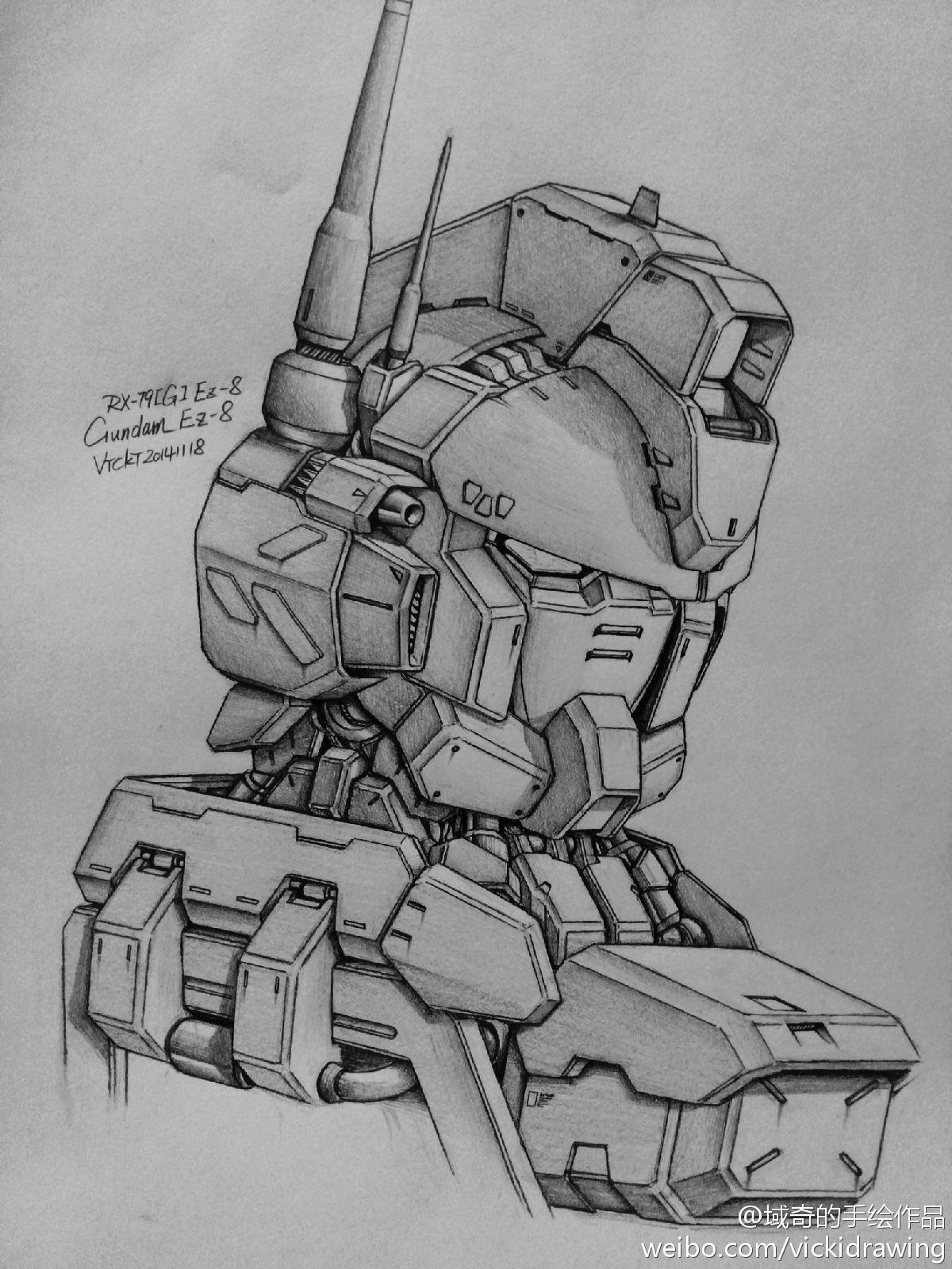 Gundam Guy Awesome Gundam Sketches By Vickidrawing