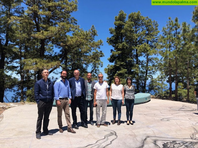Anselmo Pestana destaca el potencial turístico que tendrá para la comarca noroeste el 'Mirador del Universo'