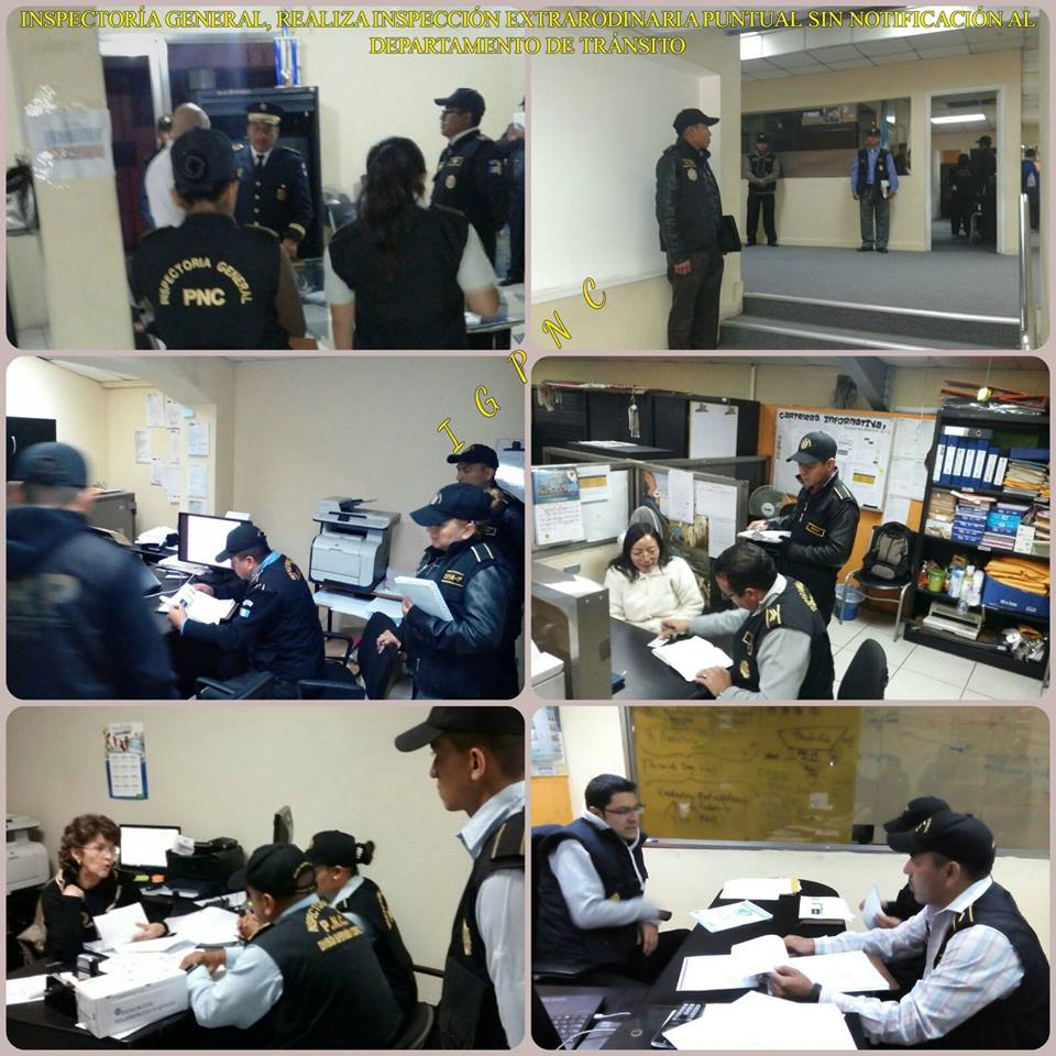 Polic a nacional civil de guatemala inspector a general supervisa servicios del departamento de - Oficina del policia ...