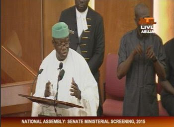 kayode fayemi at the senate screening for nominated ministers