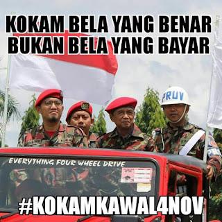 Sindir Banser (KOKAM bela yang benar bukan bela yang bayar) Ribuan Pasukan KOKAM Pemuda Muhammadiyah ikut Kawal Aksi Damai Bela Islam