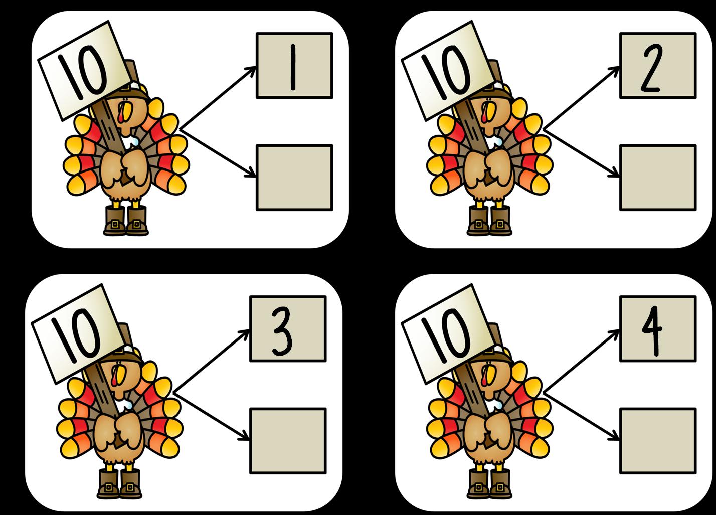First Grade Wow Talkin 39 Turkey Number Bonds And Craft