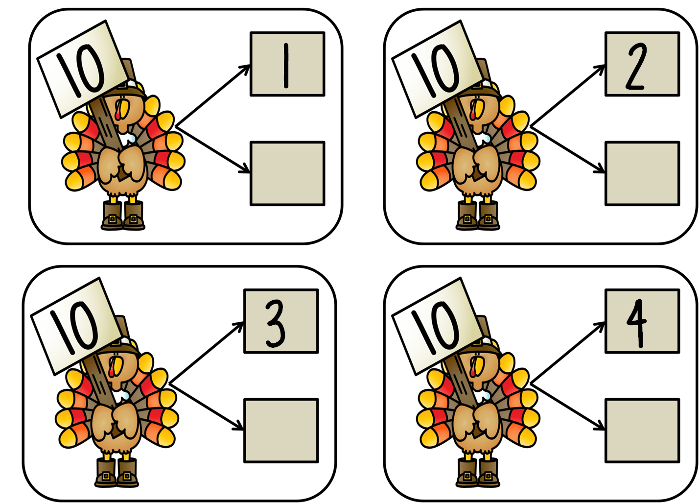 First Grade Wow Talkin Turkey Number Bonds And Craft