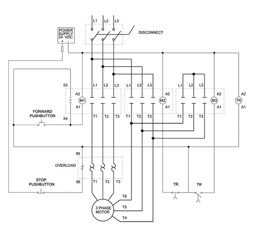 Wiring Diagram: Chapter 14 Star Delta Open Transition 3