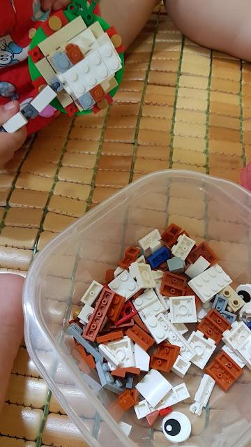 Review, đánh giá bộ đồ chơi lắp ráp lego cún con 40235