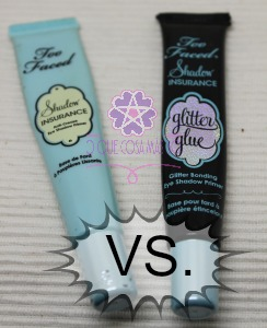 Shadow Insurance vs Glitter Glue de Too Faced