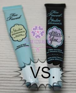 Shadow Insurance vs Glitter Glue de Too Faced