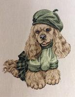 вышивка собачка символ года 2018