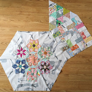hexie quilt bee blocks