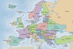 Mapa de los países de Europa y sus capitales