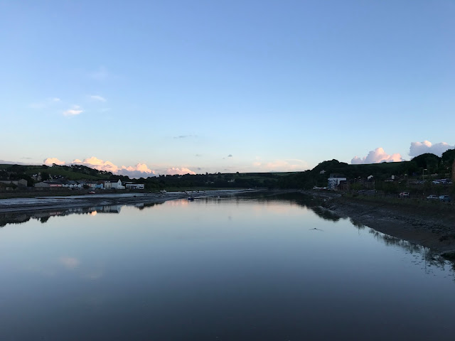 Looking south from the Old Bideford Bridge, Bideford, Devon