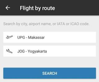 Mencari penerbangan atau pesawat berdasarkan rutenya dengan aplikasi Flighradar24