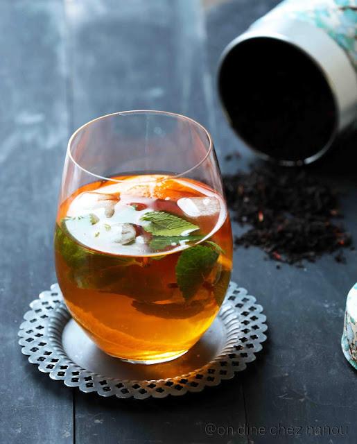 thé earl grey , agrumes , thé glacé , menthe , palais des thés