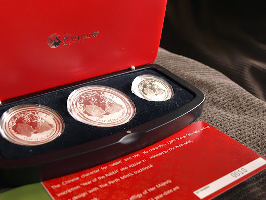 2011 Year Of The Rabbit Proof Silver Coin (3 Coin Set)